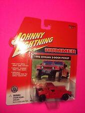 Johnny Lightning HUMMER 1998 Civilian 2-Dorr Pickup White Lightning DIECAST