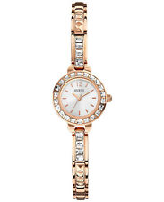 New aUTHENTIC GUESS Women's Small Circular Rose Gold and Crystals Watch U0429L3