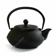 NEW 800ml Black Hobnail Tetsubin Kettle * Cast Iron Tea pot with Infuser Filter
