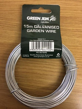15M GARDEN WIRE 1.6MM GALVANISED USE FOR TYING FIXING CLIMBING PLANTS AND SHRUBS