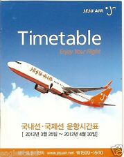 Airline Timetable - Jeju Air - 25/03/12 (Korea) - B737 cover - S