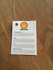 SHELL Oil Change Service Reminder Labels With Wire (not STICKERS)  Set of 50