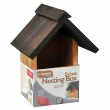 DELUXE TRADITIONAL WOODEN NESTING BOX BIRD NEST HOUSE DURABLE TREATED NEW