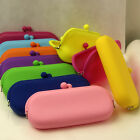 1X Rubber Silicone Pouch Purse Wallet Glasses Card Phone Cosmetic Coin Bag Case