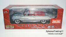 Sun Star 1961 Chevy Impala Convertible 409SS 409 SS V8  Silver w/Red 1/18 MINT!