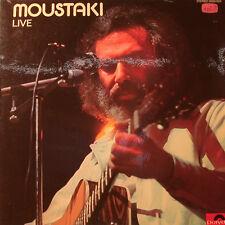 """GEORGES MOUSTAKI - LIVE 2LP 12"""" LP  [k40]"""