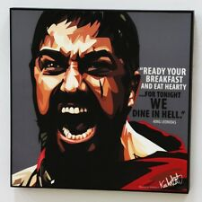 King Leonidas canvas quotes wall decals photo painting framed pop art poster
