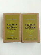 NEW Crabtree and Evelyn Verbena and Lavender Soap (40g / 1.4 Oz) Lot of 2