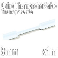 Gaine Thermo Rétractable 2:1 - Diam. 8 mm - Transparente - 1m