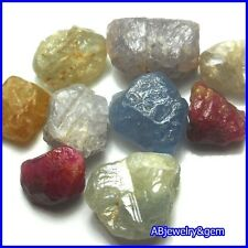 32.01 CT. 9 PCS. RAW UNHEATED NATURAL ROUGH FANCY SAPPHIRE LOT # FREE SHIP