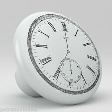 Clock Design Ceramic Knobs Pull Kitchen Bathroom Closet Drawer Cabinet 155