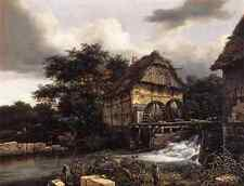 Ruisdael Jacob Isaackszon Van Two Water Mills And Open Sluice A3 Box Canvas