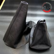 BMW E46 1998-2005 3 SERIES LEATHER GEAR STICK GAITER HANDBRAKE SET NEW