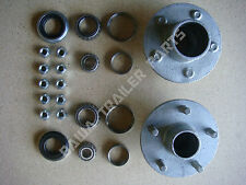 GALVANISED 5 STUD HOLDEN HT HUBS WITH FORD or SL  BEARING KITS TRAILER HUBS