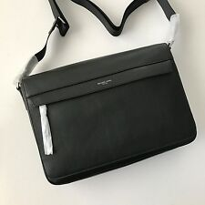 Michael Kors Mens Owen Black Leather Large Messenger Bag 33F6SOWM3L NWT