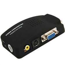 TV AV Composite S-Video RCA In to PC VGA Video Adapter Converter Box for PC
