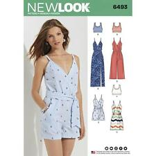 NEW LOOK Sewing Pattern Miss Womens Plus Jumpsuit+Dress+ Bralette~6493 Sz 6- 18