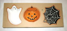 Pottery Barn Candy Halloween Dishes Bowls Ghost Pumpkin & Spider Web Set NEW