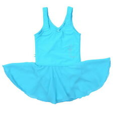 Child Gymnastics Leotard Ballet Girls Romantic Tutu Skirt Dance Dress 3-14Y