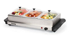 4.5l Kenley 3in1 BUFFET server PIASTRA Scaldavivande Vassoio del server in acciaio inox