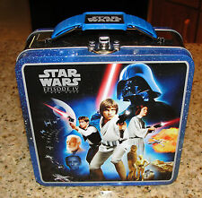 STAR WARS Episode IV A New Hope - Metal Tin Lunchbox  Tote Carrier/Carry All