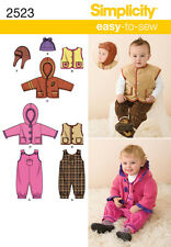 NEW | Simplicity Easy to Sew Babies Sewing Pattern 2523 Dungarees, Jacket & Hat