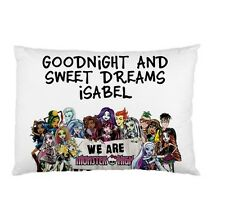 MONSTER HIGH KIDS Personalized childrens kids bed pillow case