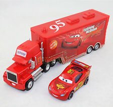 2x Disney Pixar NO.95 Red Mack Truck&Car2 NO.95 Lightning McQueen Diecast Cars
