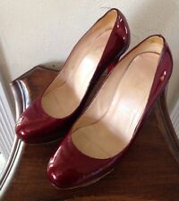 Christian Louboutin Bianca 38, metal red/wine, Dr. Who River Song shoes