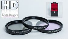 3PC (UV, PL & FLD) PRO HD FILTER KIT CANON 18-55mm 55-250mm 70-300mm