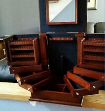 Large Deluxe Jewelry Organizer Lori Greiner Wood Armoire Storage Chest Stand Box