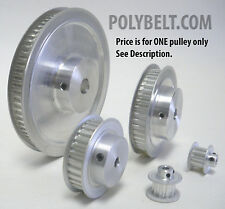 71XL037 Aluminum Timing Belt Pulley 71 Tooth, 1/2 Bore, 2 Flanges, 2 Set Screws