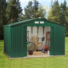 Metal Garden Shed 10 x 10 Outdoor Storage 10x10 with Free Foundation 10ft x 10ft