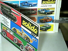 CATALOGUE SOLIDO 1977 : AUTOS, CAMIONS, MILITAIRES, POMPIERS, AGE D'OR,COFFRETS