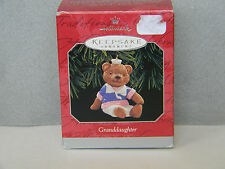 Granddaughter (Bear in old-fashioned clothes) - HALLMARK KEEPSAKE ORNAMENT -1998