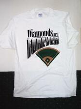 Diamonds Are Forever Diamond and Ballfield Quality White Tee Shirt Large Mens