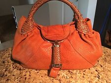 Fendi Brown leather spy bag purse