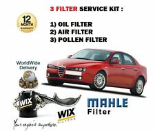 FOR ALFA ROMEO 159 1.9 2.2 JTS PETROL 2005  OIL AIR POLLEN 3 FILTER SERVICE KIT