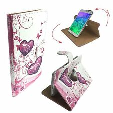 Mobile Phone Book Cover Case For Kivors 6 Inch Android 5.1 - Heart Butterfly XL