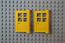 Lot de 2 portes 1x4x5 jaunes / 1x4x5 yellow doors, LEGO, #3861