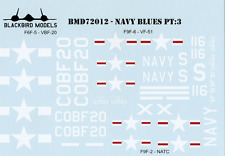 Navy Blues Pt:3 1/72nd scale decals