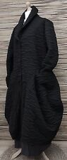 LAGENLOOK*MB GERMANY*WOOL MIX OVERSIZE BALLOON 2 POCKETS COAT*BLACK*SIZE 50-52