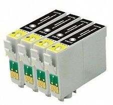 4 X COMPATIBLE BLACK INK CARTRIDGES REPLACE EPSON T1281 High Capacity