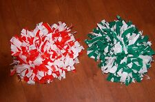 Cheerleading Poms Green/White & Orange/White Cheerleader