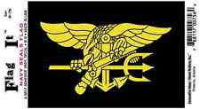 U.S. Navy Seals Flag - Vinyl Decal Sticker 3.5''x 5''
