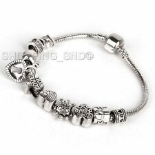 80 Mix Tibetan Silver Spacer Beads Fit European Charms Bracelet Daisy Murano DIY