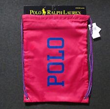 POLO RALPH LAUREN NWT Cinch Sack Bag Tote Backpack Snackpack Gym Drawstring