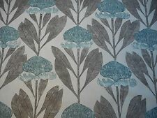 Harlequin Curtain Fabric 'Protea' 2.5 METRES Seaglass/Willow -  Linen Blend