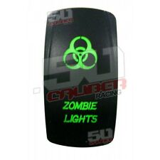 Zombie Lights Jeep Truck UTV Boat Part Green Rocker Switch 12v RZR4 XP 1000 900