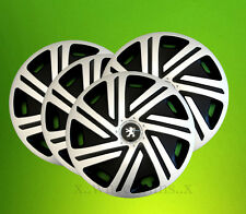 "Alloy wheels look 14"" wheel trims hubcaps to fit Peugeot 106,107,206,306,Partner"